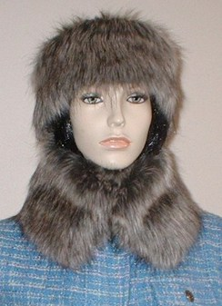 Timber Wolf Faux Fur Collar