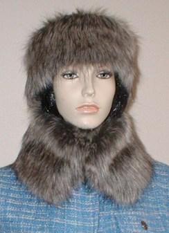 Timber Wolf Faux Fur Short Collar