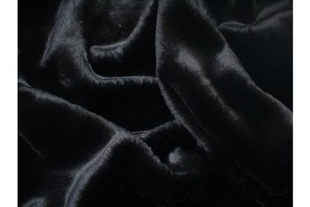 Black Mink Faux Fur Long Coat