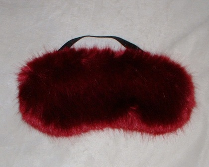 Ruby Red Faux Fur Eye Mask