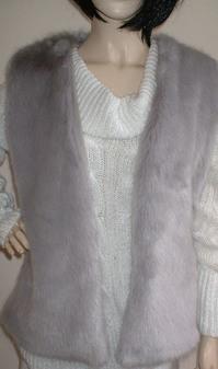 Silver Mink Faux Fur Gilet