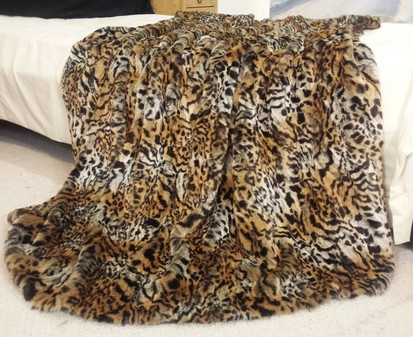 Jungle Cat Faux Fur Throw