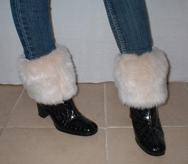 Sunny Bear Faux Fur Boot Topper