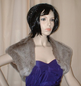 Koala Faux Fur Shrug