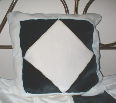 White Diamond Faux Fur Patchwork Cushion