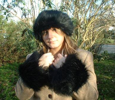 Black Bear Faux Fur Cuffs