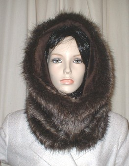 Brown Bear Faux Fur Cowl/Neck Warmer