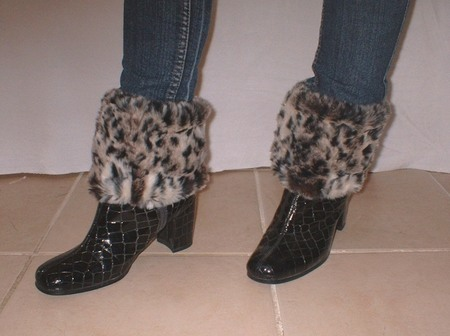 Wild Cat Faux Fur Boot Toppers
