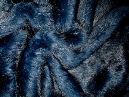 Midnight Blue Faux Fur per meter