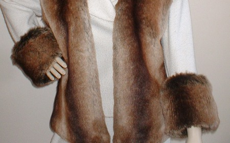 Madagascar Faux Fur Cuffs