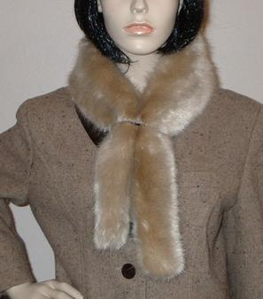 Honey Blonde Faux Fur Slim Collar/Headband