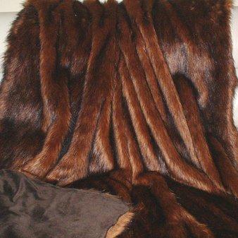 Red Fox Faux Fur Throw
