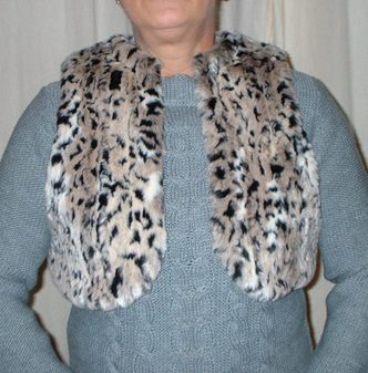 Wild Cat Faux Fur Bolero/Waistcoat