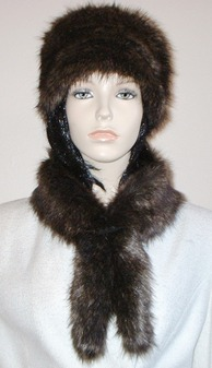 Brown Bear Faux Fur Slim Collar/Headband