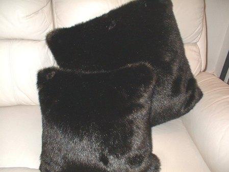 Mahogany Mink Faux Fur Cushion 41 x 41 cm