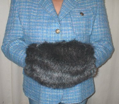 Wolfhound Faux Fur Muff