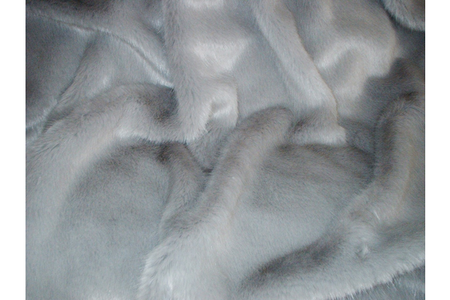 Silver Mink Faux Fur New Oblong Cushion