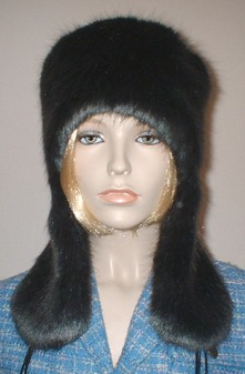 Charcoal Mink Faux Fur Trapper Hat