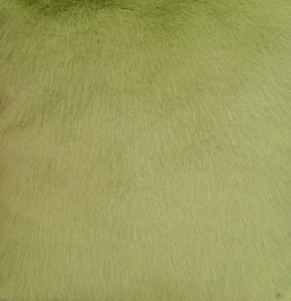 Pistachio Faux Fur Round Cushion