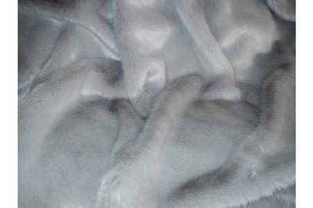 Silver Mink Heart Shaped Cushion