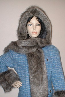 Timber Wolf Faux Fur Hoodie