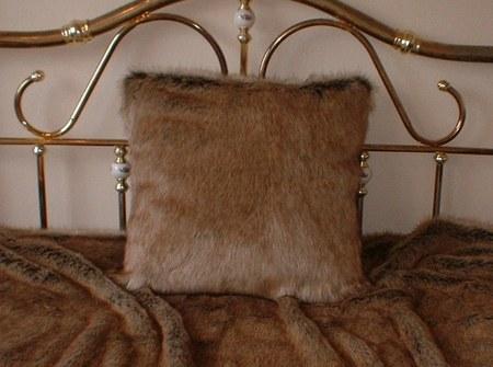 Husky Faux Fur Cushion  24 x 24 inch 61 x 61 cm