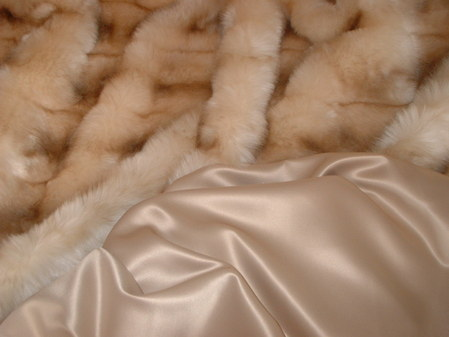 Coffee Cream Duchess Satin per meter