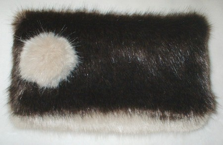 Mahogany Mink & Honey Blonde Faux Fur Clutch Bag