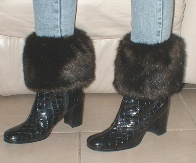 Mahogany Mink Faux Fur Boot Toppers