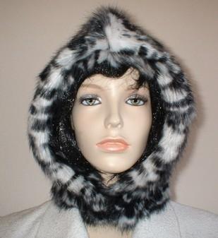 Panther Faux Fur Hood