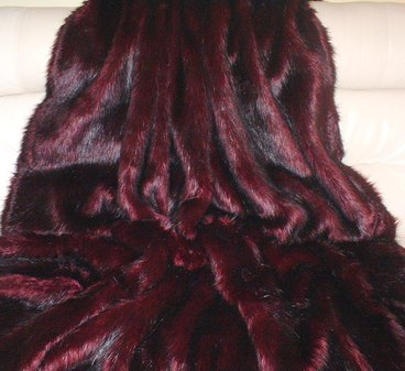 Tuscan Red Faux Fur Throw