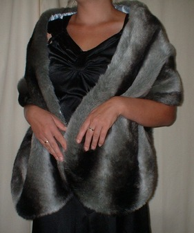 Chinchilla Faux Fur Stole