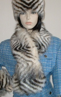Sumatra Tiger Faux Fur Pull Through Scarf
