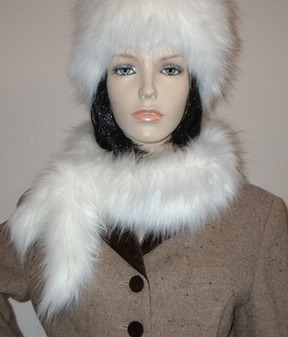 Polar Bear Faux Fur  Slim Collar/Headband