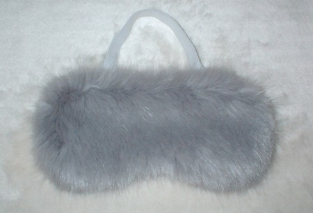 Silver Mink Faux Fur Eye Masks