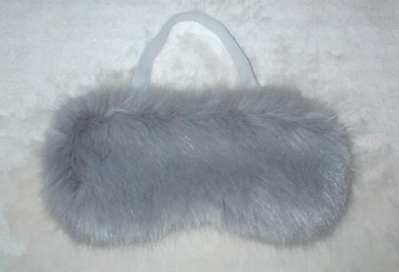 Silver Mink Faux Fur Eye Masks