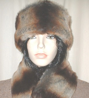 Golden Brown Chinchilla Faux Fur Headband