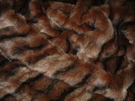 Russian Sable Faux Fur Fabric Per Meter