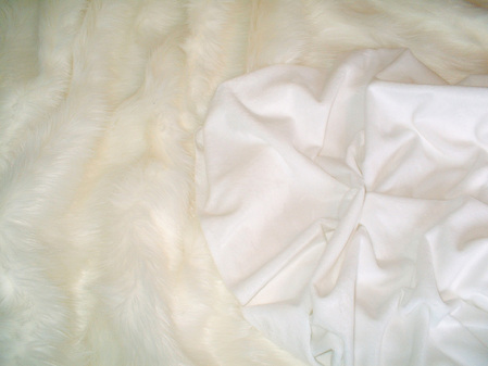 White Cuddle Soft Velboa per meter