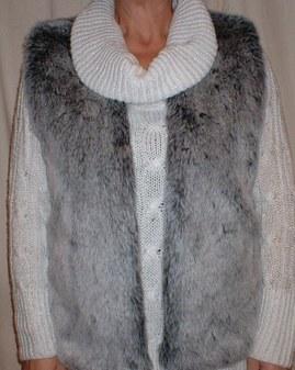 Arctic Wolf Faux Fur Gilet