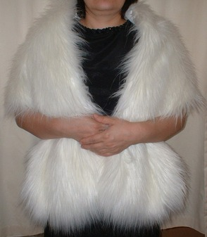 Polar Bear Faux Fur Stole