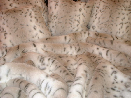 Snow Lynx Faux Fur Fabric Per Meter