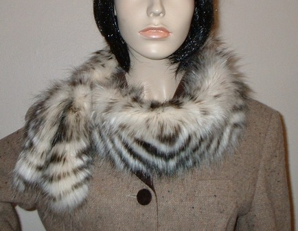 Sumatra Tiger Faux Fur Slim Collar/Headband