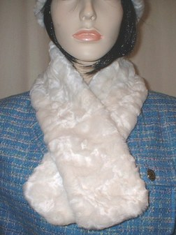 Ivory Astra Faux Fur Neck Scarf
