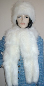 Polar Bear Faux Fur Tail Scarf
