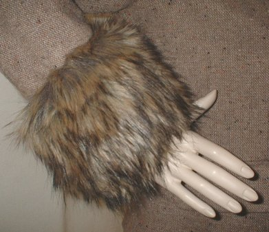 Simba Faux Fur Cuffs