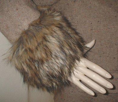Simba Faux Fur Cuffs
