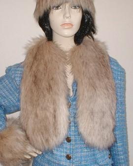 Fawn Musquash Faux Fur Bolero