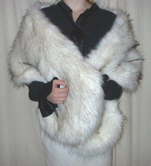 Alaska Faux Fur Stole