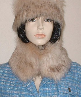 Fawn Musquash Faux Fur Short Collar